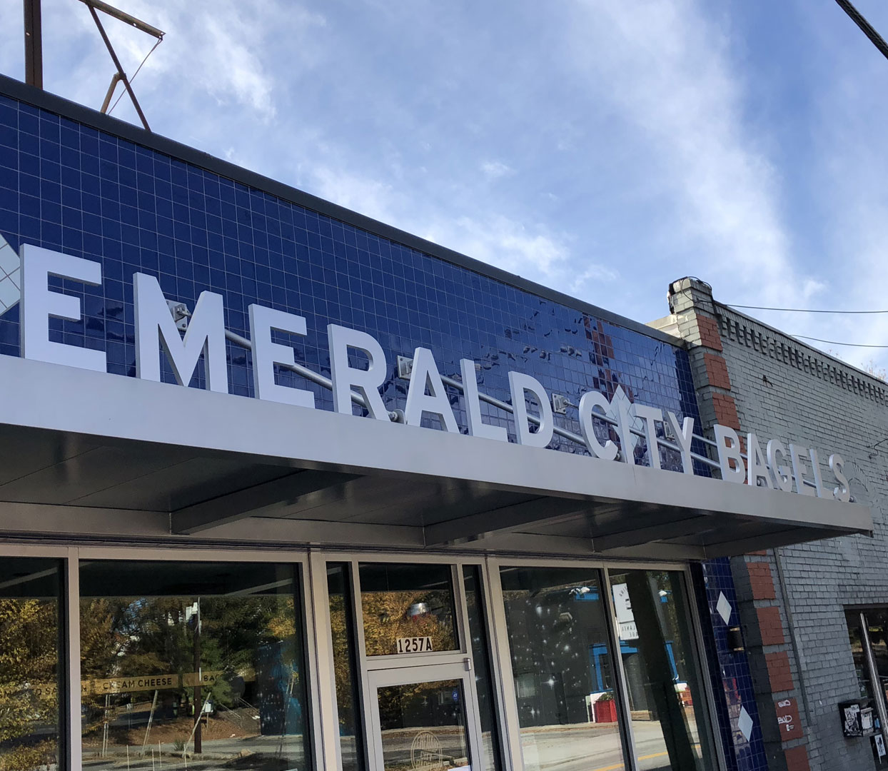 Emerald City Bagels store signage